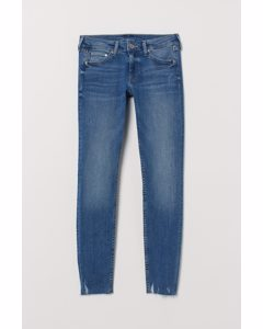 Super Skinny Low Ankle Jeans Blau