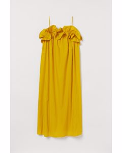 Kleid mit Volants Gelb