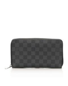 Louis Vuitton Damier Graphite Zippy Long Wallet Black