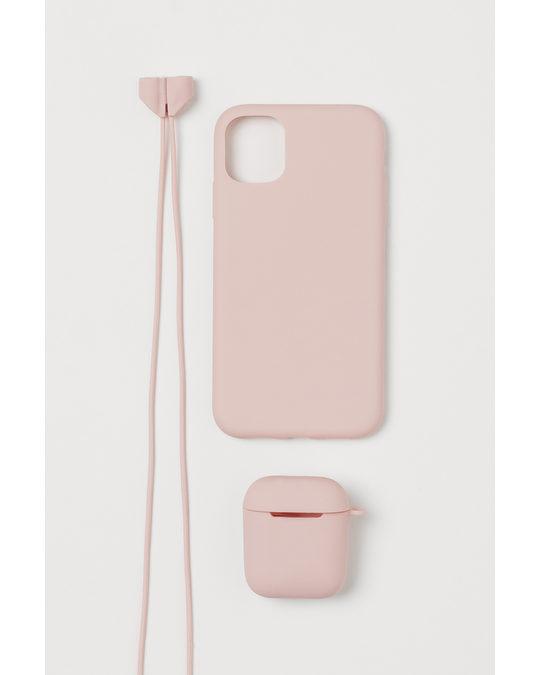 H&M 3-piece Mobile Set Light Pink