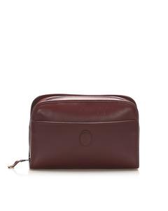 Cartier Must De Cartier Leather Clutch Bag Red