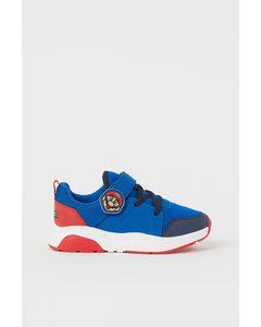 Sneakers Met Print Helderblauw/super Mario