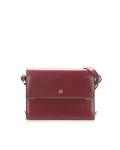 Balenciaga Flap Leather Shoulder Bag Red