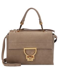 Arlettis Suede Handtasche Leder 19 cm