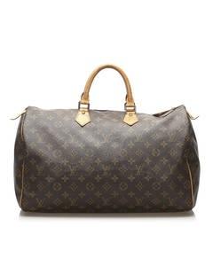 Louis Vuitton Monogram Speedy 40 Brown