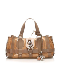Chloe Kerala Equipped Leather Tote Bag Brown