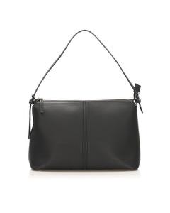 Burberry Leather Shoulder Bag Black