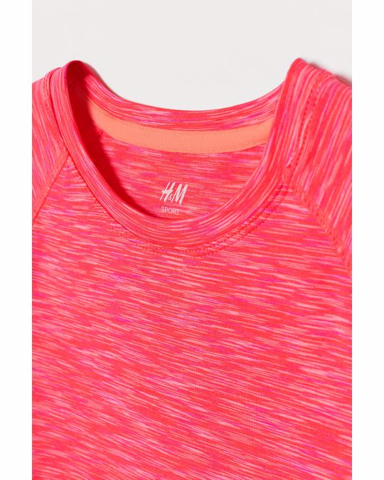 H&M Sports top Coral pink