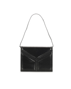 Ysl Leather Shoulder Bag Black