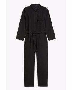 Utilitarian Jumpsuit Black Magic