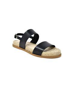 Kaydee Flat Sandal In Black Leather