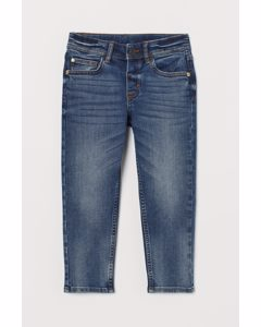 Relaxed Tapered Fit Jeans Denimblå