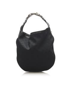 Gucci Gg Canvas Hobo Bag Black
