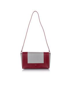 Celine Frame Leather Shoulder Bag Red