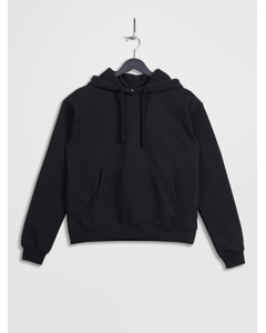 100% Recycled Front Pocket Hoodie Black