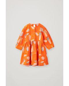 Printed Cotton Dress Multicoloured