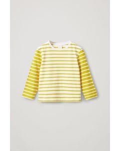 Striped Organic Cotton Top Yellow / White