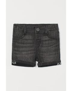 Denim Short Zwart/washed Out