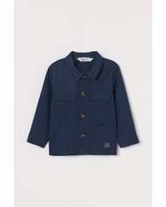 Hemdjacke aus Twill Marineblau