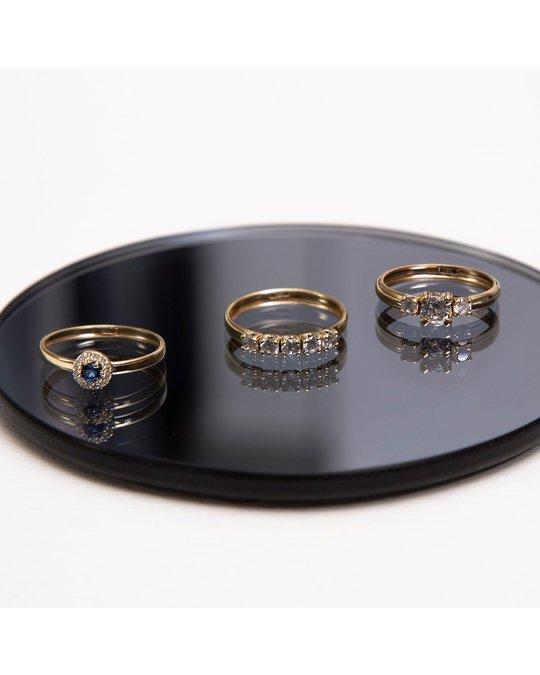 Lucardi 9 Karaat Ring Met 3 Zirkonia Stenen