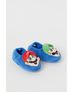 Mjuka Tofflor Blå/super Mario