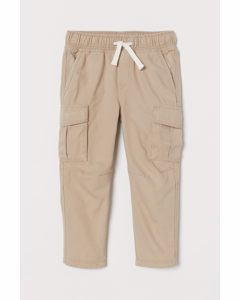 Relaxed Fit Cargojoggers Beige