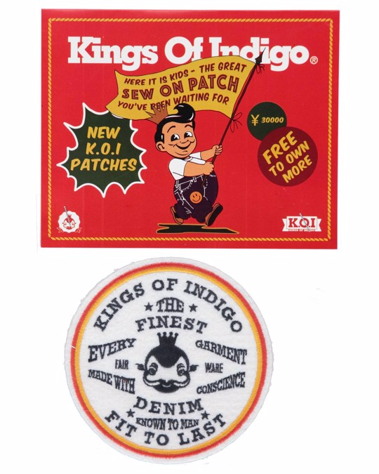 Kings of Indigo Badge Fit To Last White