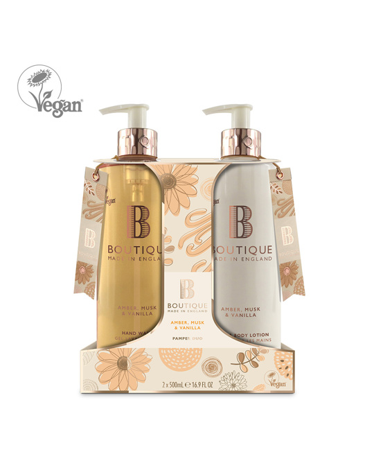 Boutique Boutique Amber, Musk & Vanilla Hand Duo