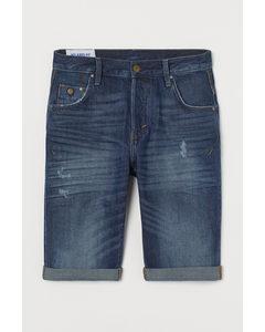 Denim Short - Relaxed Fit Donker Denimblauw