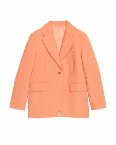 Oversized Wool Blazer Dusty Orange