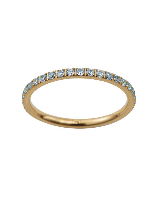 Edblad Glow Ring Micro Pool Blue Gold