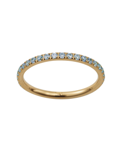 Glow Ring Micro Pool Blue Gold