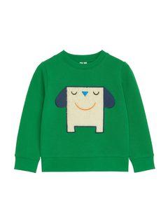 Monster Patch Sweatshirt Green