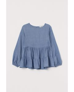 Flared Blouse Blue