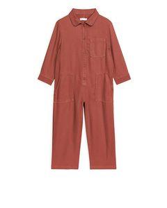 Workwear-Overall aus Lyocell Terrakotta