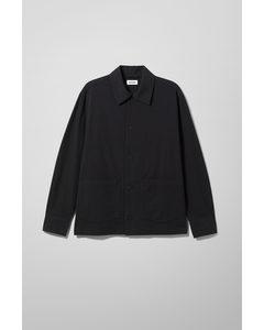 Xander Structured Overshirt Black