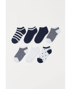 7er-Pack Sneakersocken Marineblau/Anker