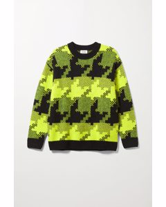 Diego Houndstooth Sweater Black & Yellow