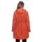 Long Jacket With Hood, Elastic Waist With Strings And Side Pockets