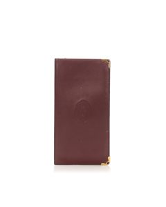 Cartier Must De Cartier Leather Long Wallet Red