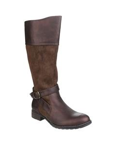 Divaz Womens/ladies Garbo Zip Up Contrast Knee High Boots