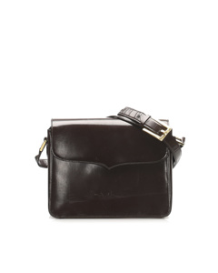 Ysl Leather Shoulder Bag Brown