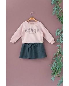 Plant Print Skirt Suit