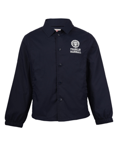 Coach Jacket With Jersey Lining Navy