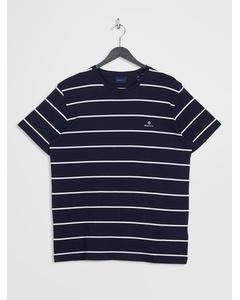 Breton Stripe Ss T-shirt Evening Blue