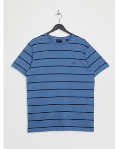 Breton Stripe Ss T-shirt Denim Blue Mel