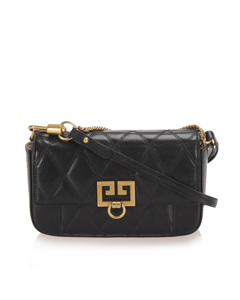 Givenchy Gv3 Leather Crossbody Bag Black