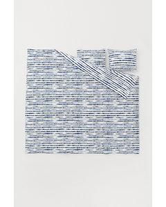 Batikmönstrat Påslakanset Mörkblå/batikmönstrad