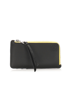 Loewe Anagram Leather Coin Pouch Black