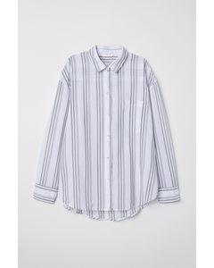 Oversized Skjorta Vit/randig